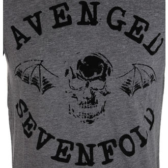 tričko pánské Avenged Sevenfold - Classic Deathbat Acid Wash - ROCK OFF - ASTS19MG