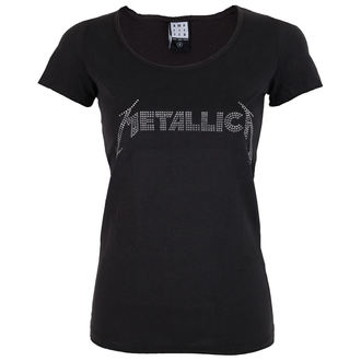 tričko dámské METALLICA - SILVER LOGO DIAMANTE - AMPLIFIED - AV601MLS