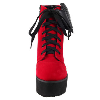 boty dámské IRON FIST - Bat Wing Boot Red Velvet, IRON FIST