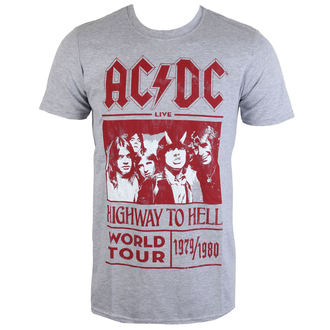tričko pánské AC/DC - Highway To Hell World Tour 1979/80 - Grey - ROCK OFF, ROCK OFF, AC-DC