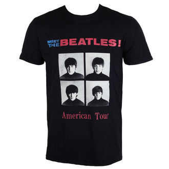 tričko pánské The Beatles - American Tour 1964 - Black - ROCK OFF, ROCK OFF, Beatles