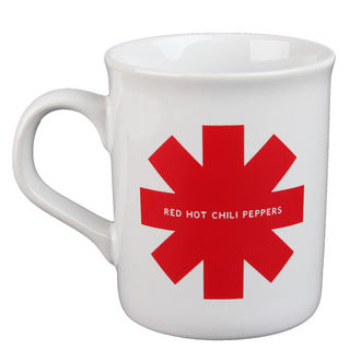 hrnek Red Hot Chili Peppers - Red Asterisk - White, Red Hot Chili Peppers