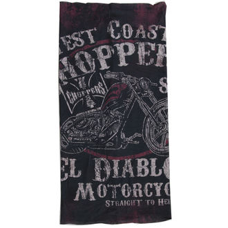 šátek West Coast Choppers - EL DIABLO - BLACK, West Coast Choppers