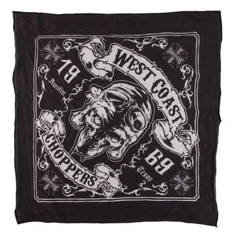 šátek West Coast Choppers - SKULL 13 -  BLACK, West Coast Choppers