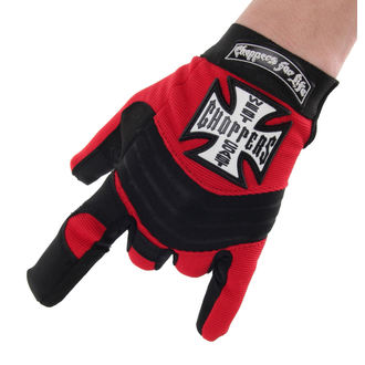 rukavice West Coast Choppers - RIDING - BLACK/RED, West Coast Choppers