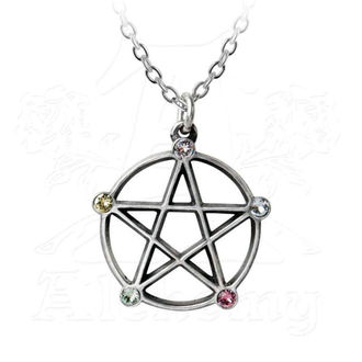 obojek ALCHEMY GOTHIC - Wiccan Elemental Pentacle - P786