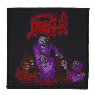 nášivka DEATH - SCREAM BLOODY GORE - RAZAMATAZ, RAZAMATAZ, Death