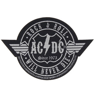 nášivka AC/DC - ROCK ´N´ ROLL WILL NEVER DIE CUT-OUT - RAZAMATAZ - SP2835