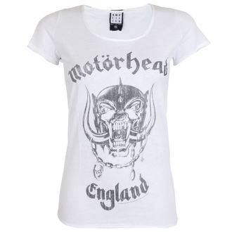 tričko dámské AMPLIFIED - MOTORHEAD - ENGLAND - WHITE, AMPLIFIED, Motörhead