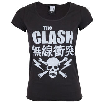 tričko dámské AMPLIFIED - THE CLASH BOLT - CHARCOAL