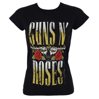 tričko dámské Guns N' Roses - Big Guns - Black - ROCK OFF, ROCK OFF, Guns N' Roses