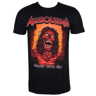 tričko pánské AIRBOURNE - BOH SKELETON T - BLACK - LIVE NATION, LIVE NATION, Airbourne