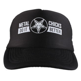 kšiltovka METAL CHICKS DO IT BETTER - Baphomet - Logo - Black, METAL CHICKS DO IT BETTER