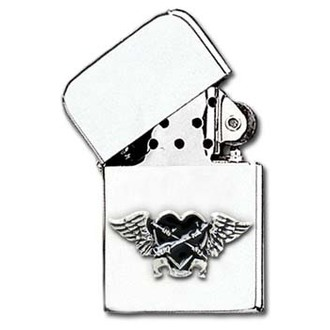 zapalovač Black Heart Petrol Lighter AAZ45, ALCHEMY GOTHIC