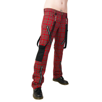 kalhoty Black Pistol - Punk Pants Tartan Red-Green, BLACK PISTOL