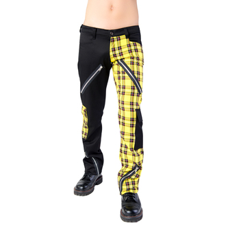 kalhoty Black Pistol - Freak Pants Tartan Black-Yellow, BLACK PISTOL