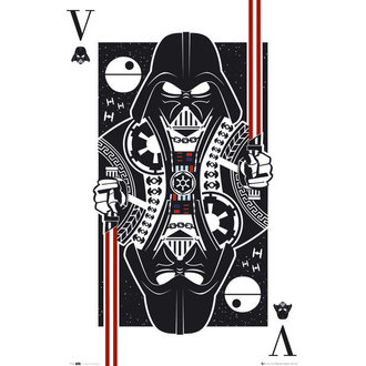 plakát Star Wars - Vader Playing Card - GB Posters, GB posters