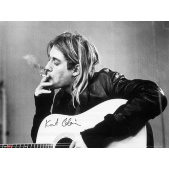 plakát - Nirvana - Kurt Cobain - smoking - LP1151, GB posters, Nirvana