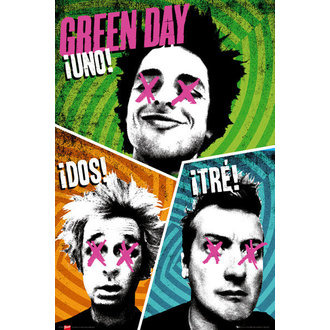 plakát Green Day - Trio - GB Posters, GB posters, Green Day