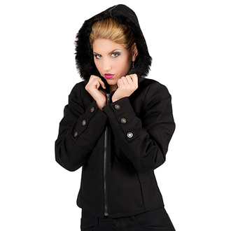 bunda dámská Mode Wichtig - Girls Hoody Jacket Raw Denim Black, MODE WICHTIG