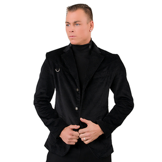 sako pánské Mode Wichtig - Basic Jacket Cord Black, MODE WICHTIG
