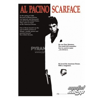 plakát Scarface (Movie One-sheet) - PP30091, PYRAMID POSTERS