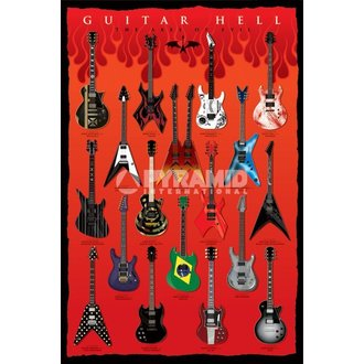 plakát Guitar Hell (The Axes Of Evil) - PYRAMID POSTERS - PP32523
