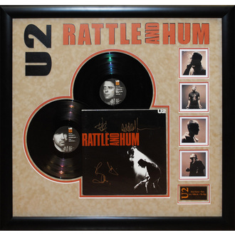 LP s podpisem U2 - Rattle and Hum, ANTIQUITIES CALIFORNIA, U2