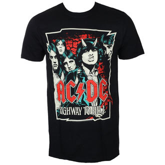 tričko pánské AC/DC - CARTOON - BLACK - LIVE NATION, LIVE NATION, AC-DC