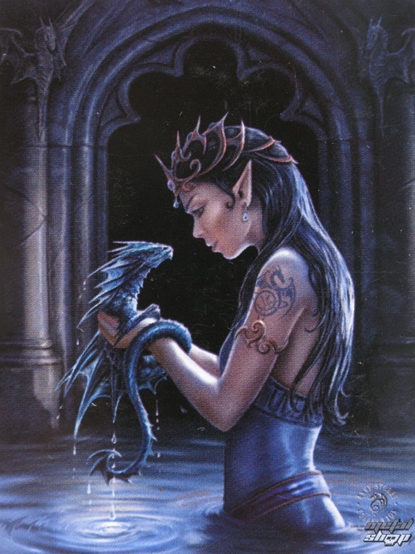 vlajka Anne Stokes - Water Dragon - HFL0974