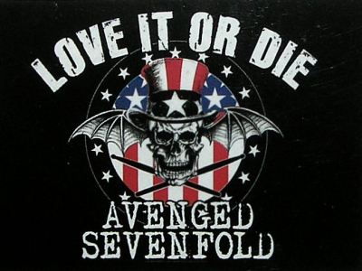 vlajka Avanged Sevenfold - Love it or Die
