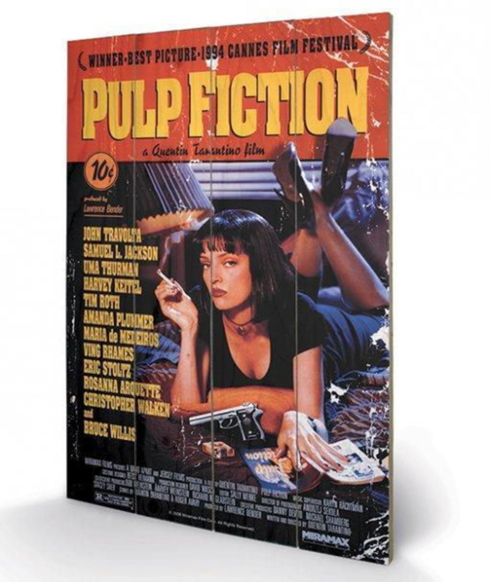 dřevěný obraz Pulp Fiction - (Cover) - PYRAMID POSTERS - SW10497P