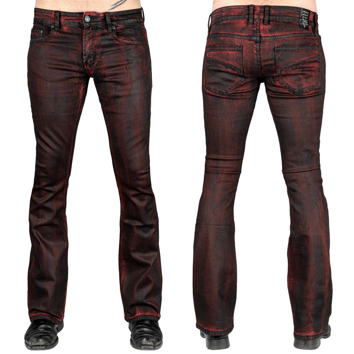 kalhoty pánské (jeans) WORNSTAR - Hellraiser Crimson Coated - WSGP-HRCC